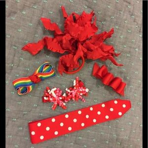 Other - Girls' Hair Accessories - Bundle of 6 Red